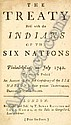 [ BOOKS ] America. The Treaty Held with the Indians of the Six Nations at Philadelphia, in July 1742. To which is Prefix'd an Account of the First Confederacy of the Six Nations, their Present Tributaries, Dependents, and Allies, reprinted and sold