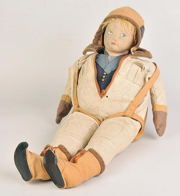 RAF WWII. A rare large Pilot doll by Norah