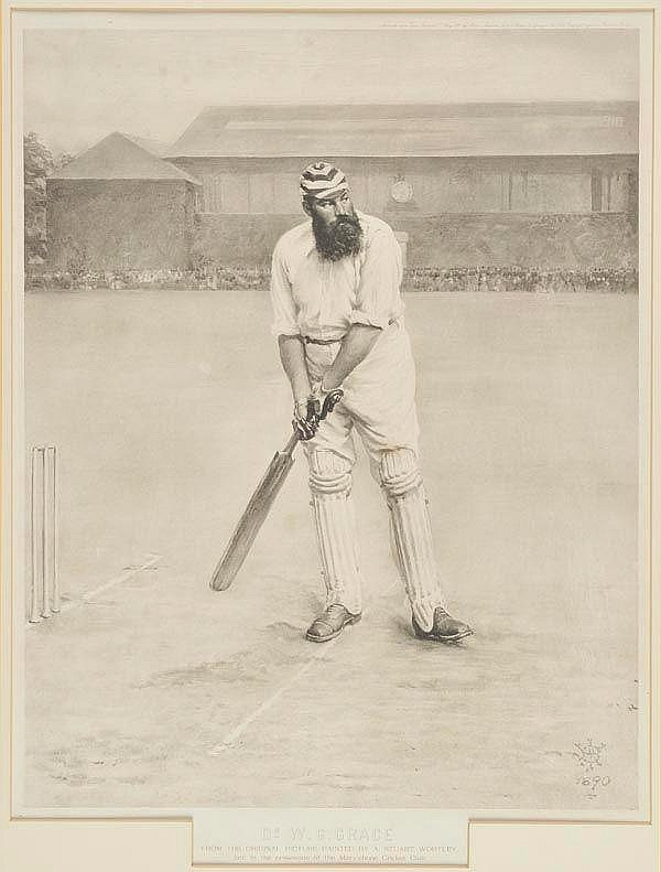 * Cricket. Dr. W.G.Grace from the Original Picture