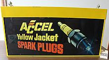 Accel Yellow Jacket Spark Plug Light up Sign