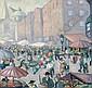 -Herbert Gurschner(Innsbruck 1901-1975) Market in