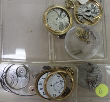 (2) ILLINOIS POCKET WATCHES FOR PARTS