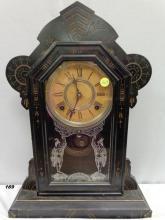 GILBERT MERL MODEL MANTLE CLOCK W/ KEY &