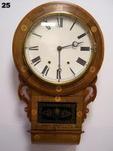 8 DAY, TIME & STRIKE SCHOOL HOUSE CLOCK