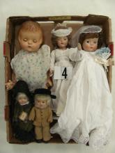 LOT OF (5) COMPO DOLLS: EFFANBEE PATSY ANN