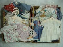 (2) BOXES: VARIETY OF DIFF SIZE DOLL CLOTHES