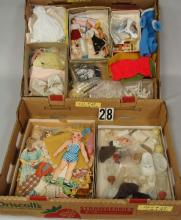 (2 BOXES) LOT CONTAINS PAPER DOLLS,