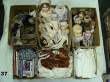 LRG. LOT: CONSISTS OF (4) BOXES OF DOLL CLOTHES,