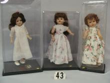 (2) 17 IN. UNMARKED HARD PLASTIC DOLLS