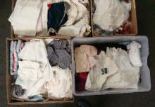 LRG LOT OF ASSTD DOLL CLOTHING, LACE,