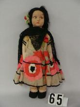 LENCI 14 IN. GIRL WITH TAGGED DRESS,