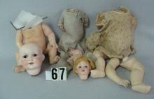 LOT: (3) COMPO DOLL BODIES WITH BENT LIMBS