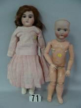 MAJESTIC 23 IN. BISQUE SHOULDER HEAD DOLL,