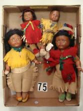 (4) MADAME HENDREN INDIAN DOLLS
