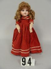 A.M. 390 13 IN. BISQUE SOCKET HEAD DOLL