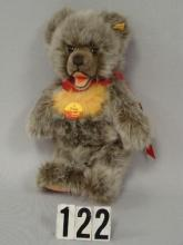 STEIFF 12 IN. ZOTTY BEAR WITH RED RIBBON