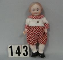 T. RECKNAGEL 8 1/2 IN. BISQUE HEAD GOOGLY GIRL