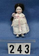 3 1/2 IN. ALL BISQUE DOLL WITH JOINTED ARMS