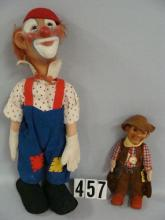 (2 PCS) STEIFF 17 IN. CLOWN WITH RUBBER FACE