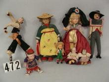 (8 PCS) BOX LOT OF ASSTD. DOLLS