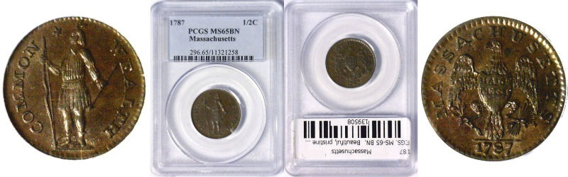 1787 Colonial Coinage