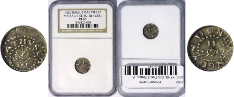 1662 Colonial Coinage
