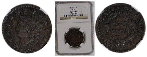1826/5 Large Cent