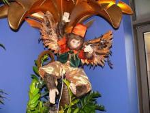 Monkey in oriental costume