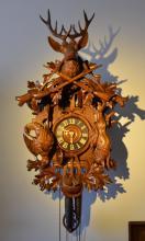 Original Black Forest Cuckoo Clock, with Double Door Function