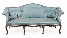A suite of mahogany seat furniture, incorporating a settee and six side...