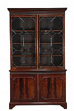 A mahogany library bookcase in George III style, late 19th/ early 20th century