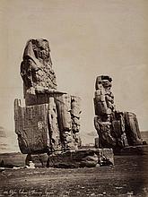 Félix Bonfils (1831-1885) - Thèbes, Colosses de Memnon, Egypt, ca. 1870
