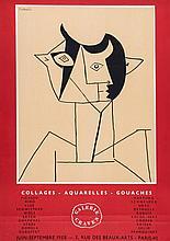 Pablo Picasso (1881-1973)(after) - Collages Aquarelles Gouaches (CZW.143)