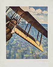 C.R.W Nevinson (1889-1946)(after) - Banking at 4000 feet