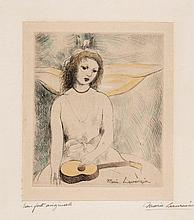 Marie Laurencin (1885 - 1956)(after) - Girl with Mandolin