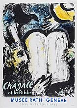 Marc Chagall (1887-1985)(after) - Chagall et la Bible (Moses and the Tablets of the Law), Musée Rath - Genève (M.362)