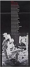Colin Self (b.1941) - Poster Poem: Electric Chair (with Christopher Logue)