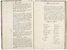 A Booke of Phizicke Sirgery & Walters & Cordialles, manuscript, in two hands