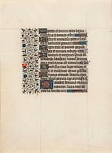 illuminated manuscript in Latin, on vellum, 3ff