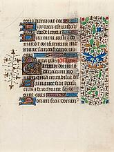 3ff., illuminated manuscript in Latin, on vellum, 15 lines