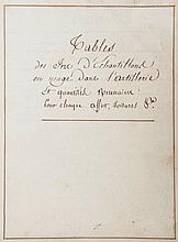 French Revolutionary Artillery.- - Tables des Fer d'Echantillons en usage dans l'Artillerie et Quantites Necessaires pour chaque