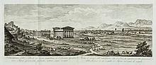 Architecture.- Paoli (Paulo Antonio) - Rovine della Citta' di Pesto detta ancora Posidonia,