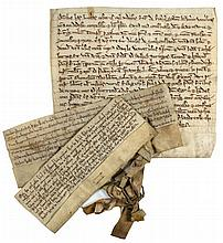 3 charters, grants by Richard de Richil to the Knights Templars of the...