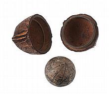 A rare German 1 inch miniature terrestrial globe ,
