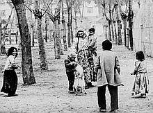 ARR Mario Giacomelli (1925-2000). Untitled, from the series 'Zingari' (Gypsies), 1958. Gelatin silv