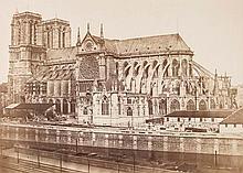 Edouard Denis Baldus (1813-1889). Cathedrale Notre-Dame de Paris, 1852-1853. Albumen print on conte