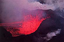 Ernst Haas (1921-1986). Surtsey Volcano, Iceland, 1965. Dye transfer print, printed 1981, signed in