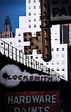 Ernst Haas (1921-1986). Locksmith's Sign, NYC, 1952. Chromogenic print, printed later, signed by Al