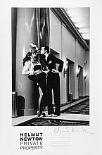 Helmut Newton (1920-2004). Priverte Private Property, 1983. Offset lithographic poster, printed 198