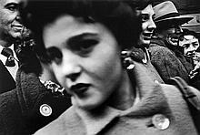 William Klein (b.1928). Big Face in Crowd, New York, 1955. Gelatin silver print, printed later, sig